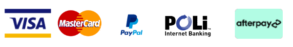 Credit/ Debit/ Paypal/ Poli/ Afterpay payments